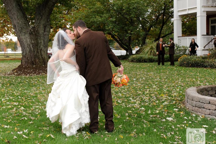 Laurita Winery Wedding Photos • Orange + Brown Fall Vineyard • Clare + Doug
