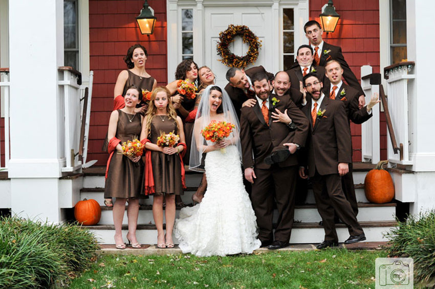 Laurita Winery Wedding Photos Orange Brown Fall