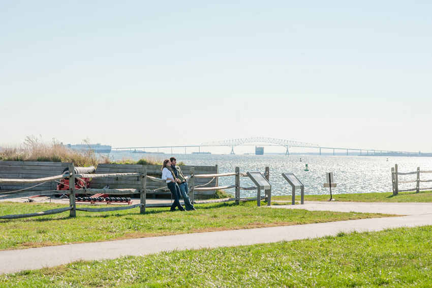 Baltimore, Maryland | Fort McHenry and Inner Harbor Engagement Session | Mikkel Paige Photography