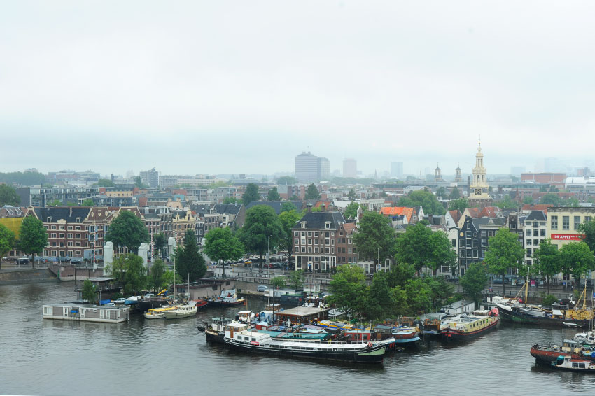 Mikkel Paige Photography   Travel   Europe   Amsterdam, Netherlands   Public Library Aerial City View