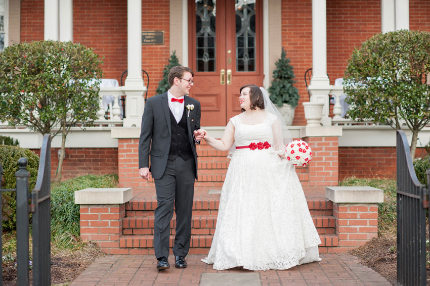 Red and Blue Bliss | Raleigh, North Carolina Wedding | Mikkel Paige Photography | Second Empire Restaurant