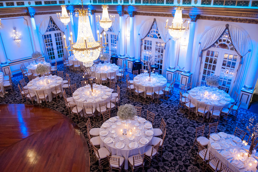 260 Mikkelpaige New Jersey Crystal Plaza Winter Wedding Reception
