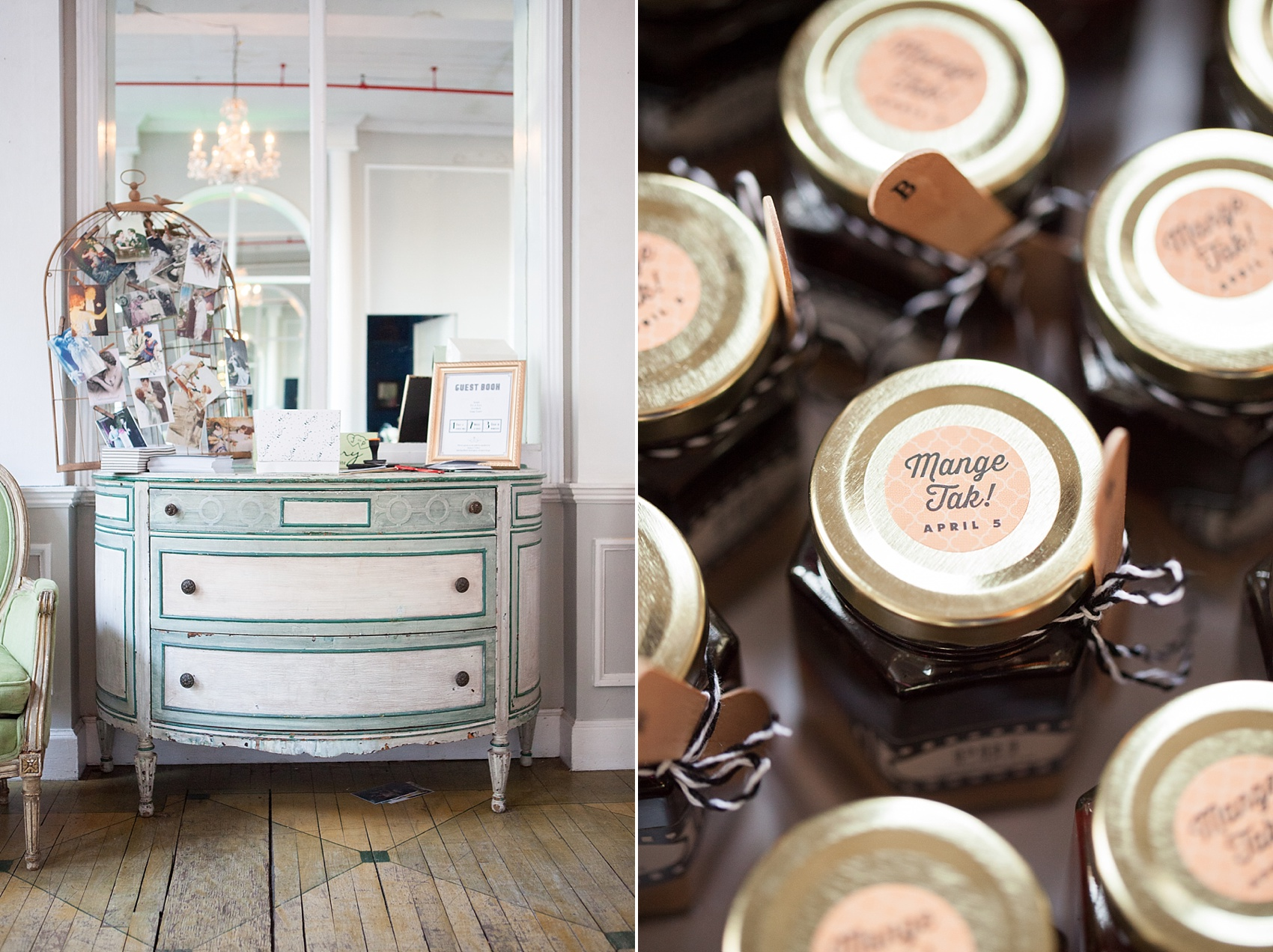 Wedding guest favors in Danish at the Metropolitan Building. Images by Mikkel Paige Photography.