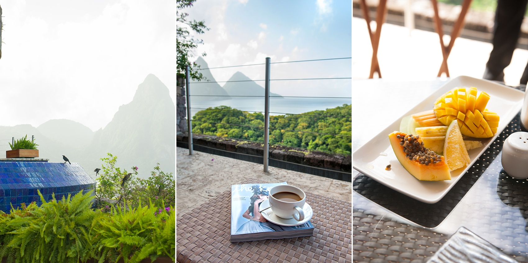 Jade Mountain and Anse Chastanet Resort in St. Lucia, Caribbean. Photos by destination wedding photographer, Mikkel Paige Photography.
