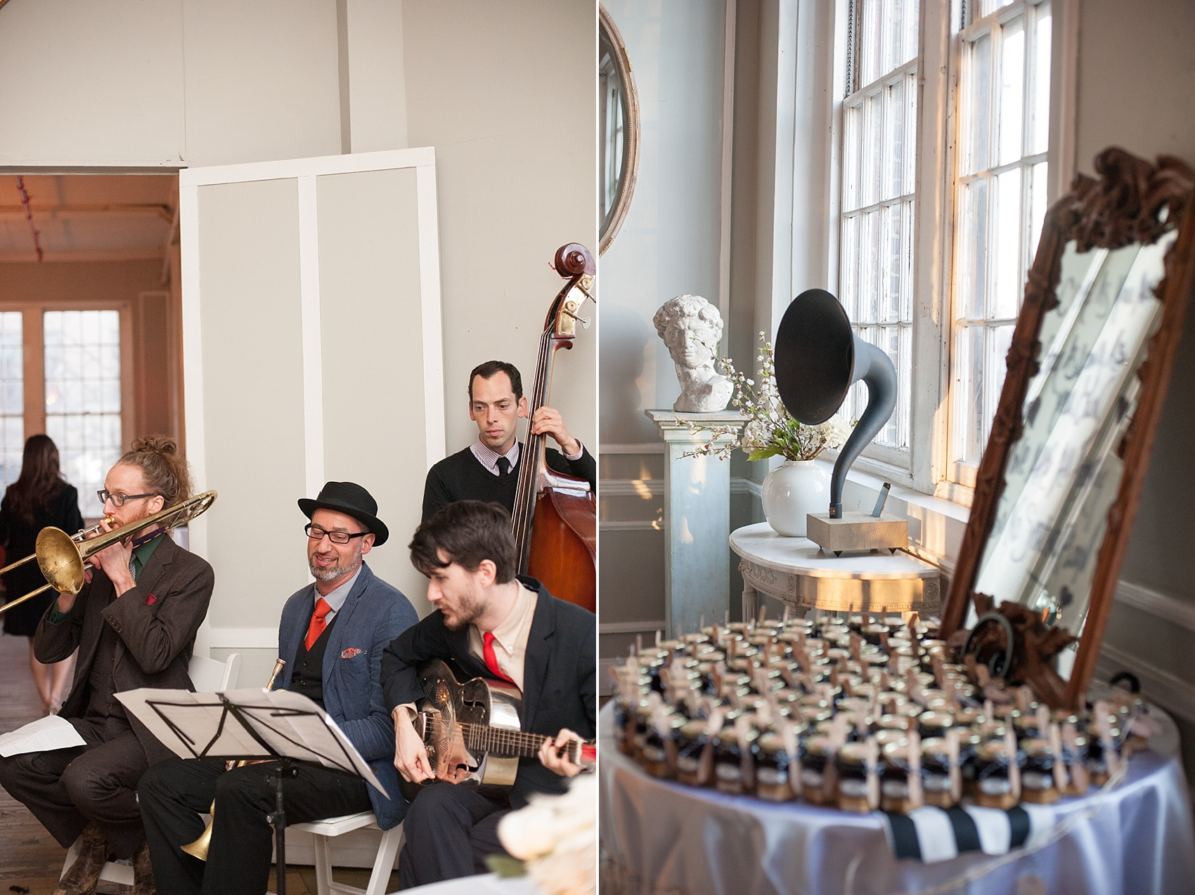 Black and White vintage reception at the Metropolitan Building. Images by Mikkel Paige Photography.