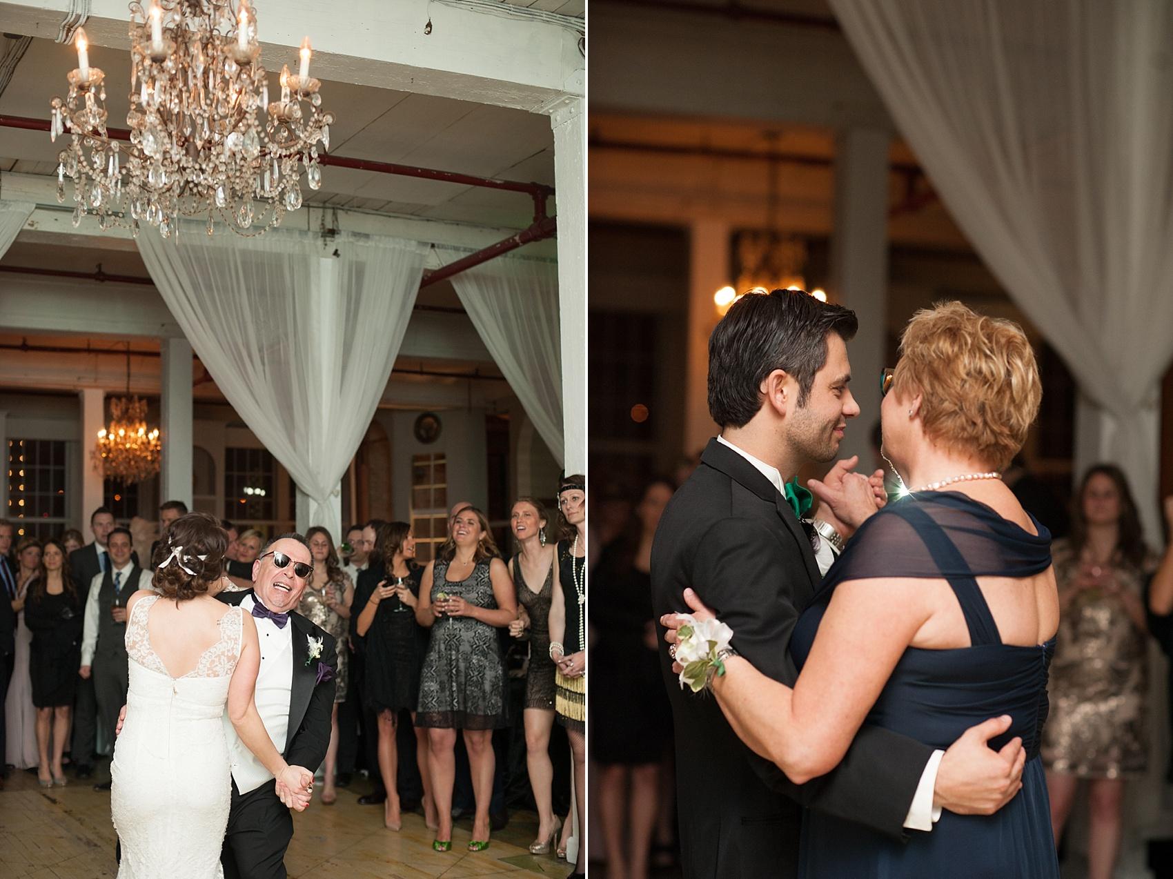 Parent dance at a vintage reception at the Metropolitan Building. Images by Mikkel Paige Photography.