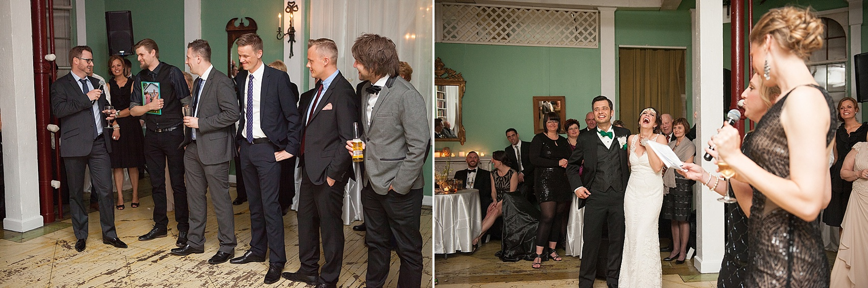 Speeches at a vintage reception at the Metropolitan Building. Images by Mikkel Paige Photography.