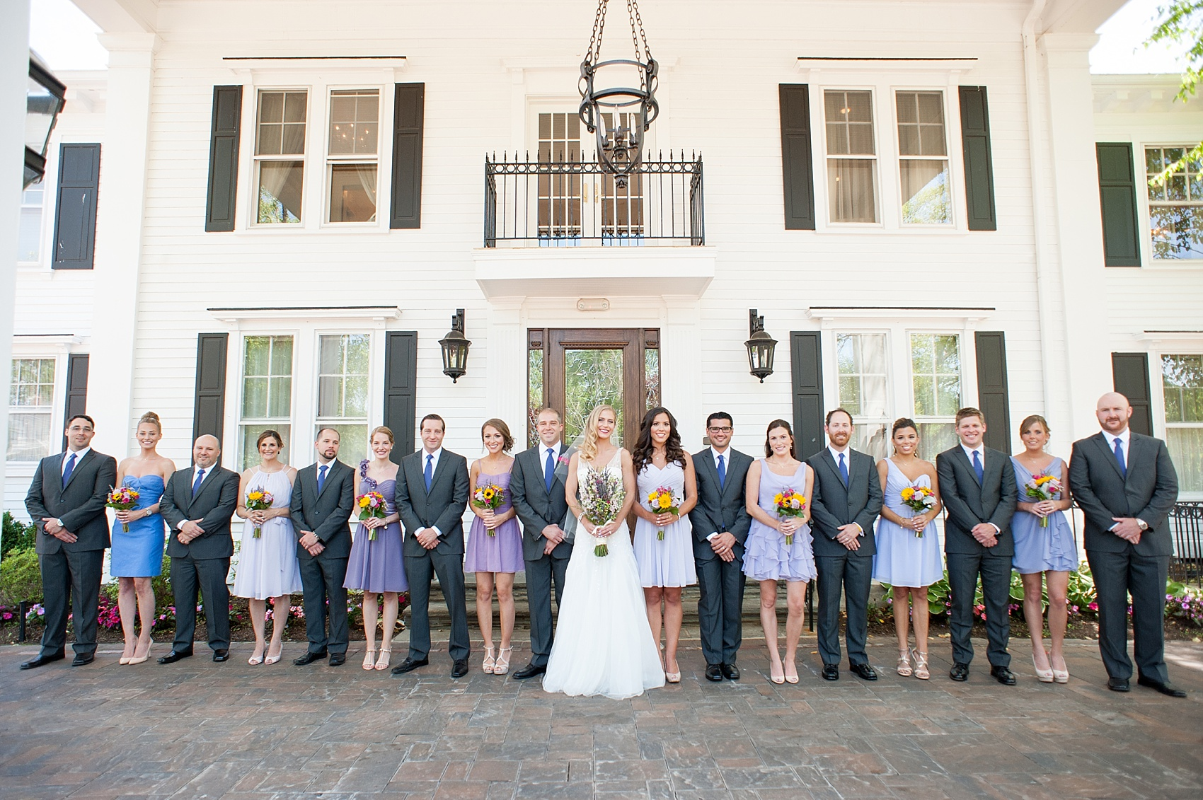 Summer Wedding At The Park Savoy Purple Hues And
