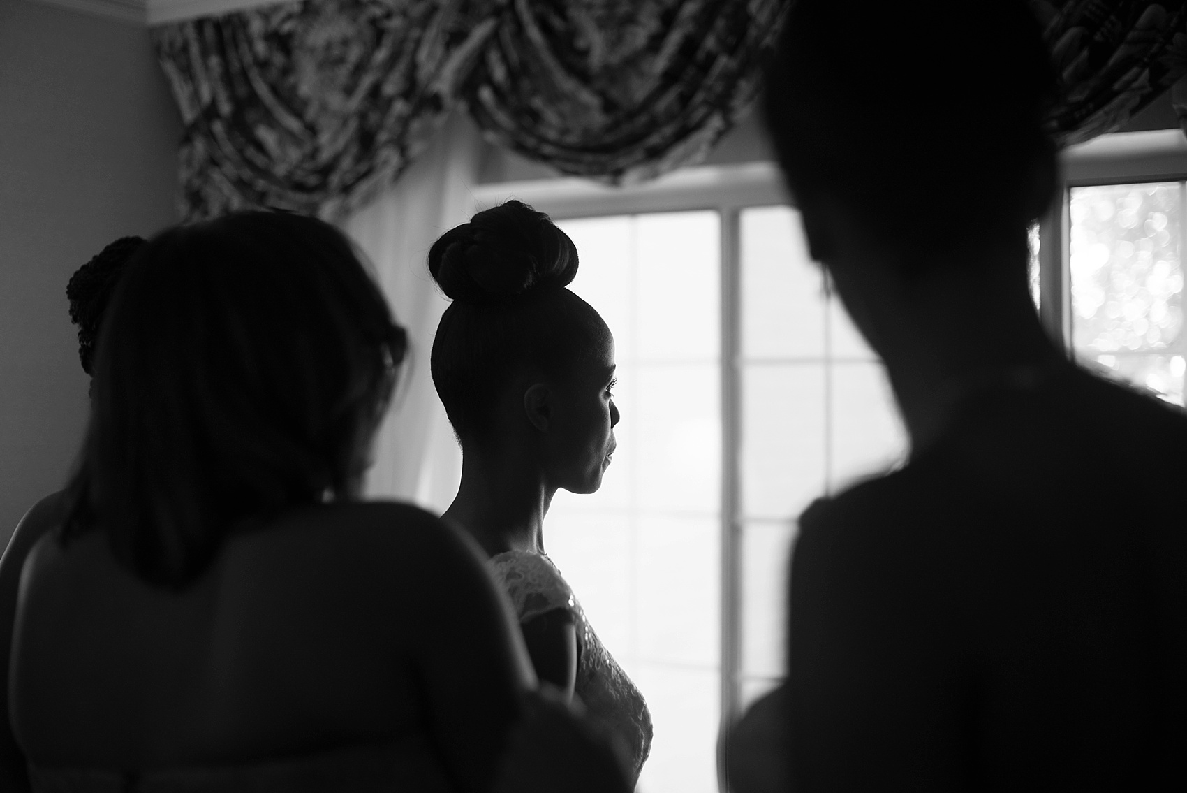 Bride wedding day prep and Pronovias gown. Images by Mikkel Paige Photography at The Conservatory at the Madison Hotel, New Jersey.