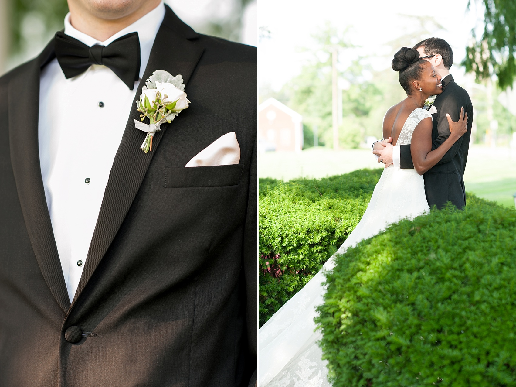 Groom's tuxedo from Black by Vera Wang at The Conservatory at the Madison Hotel, New Jersey. Photos by Mikkel Paige Photography.