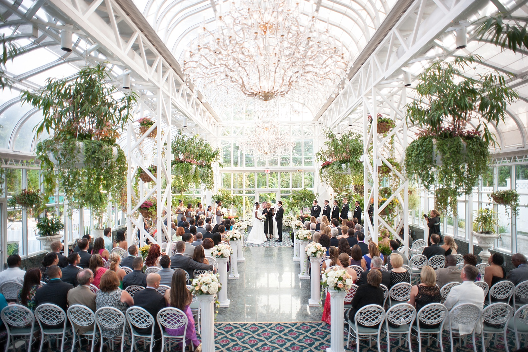 The Conservatory At The Madison Hotel Summer Wedding