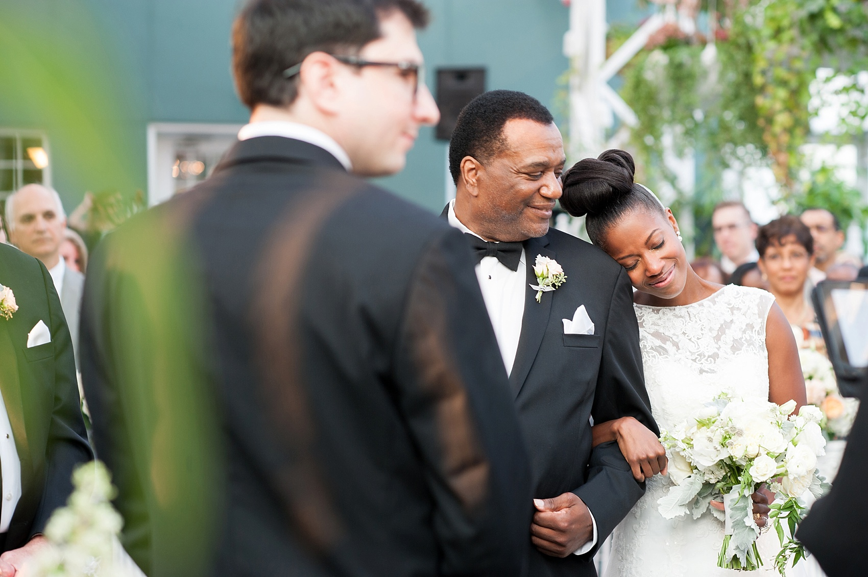 Wedding ceremony at the Conservatory at The Madison Hotel, New Jersey. Photos by Mikkel Paige Photography.