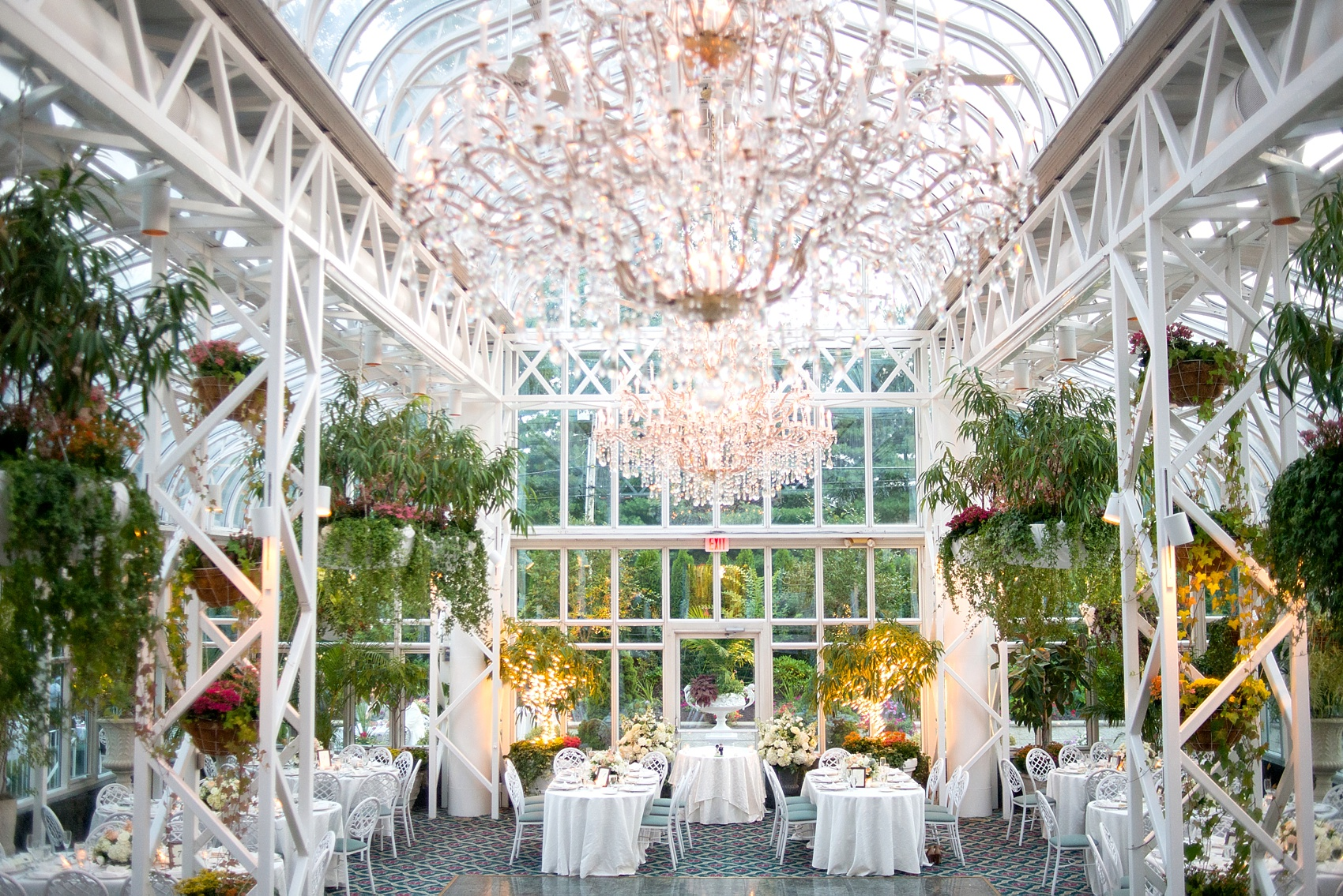 The conservatory at the madison hotel summer wedding for Garden rooms jersey