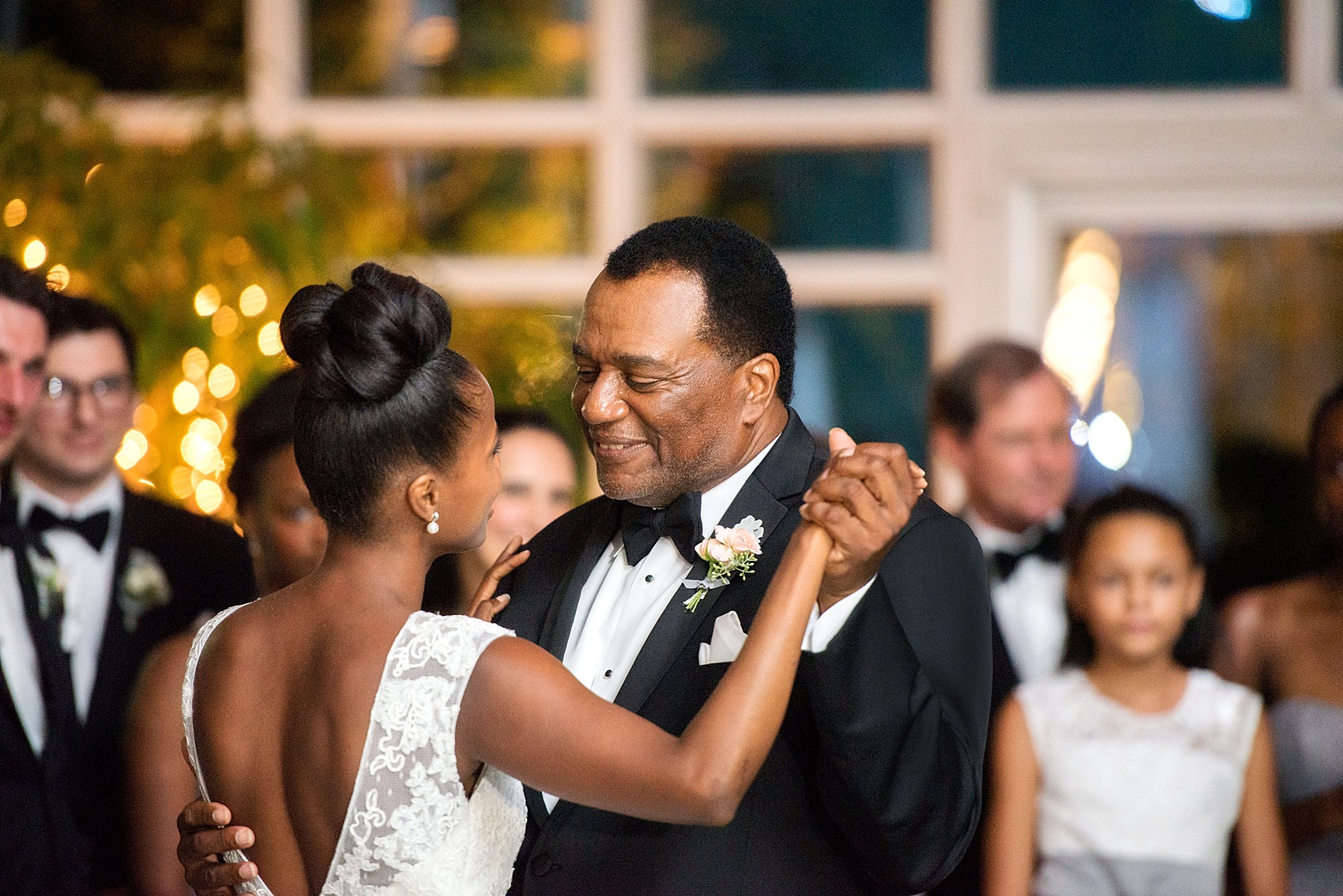 Father-daughter dance at a wedding reception at the Conservatory at The Madison Hotel, New Jersey. Photos by Mikkel Paige Photography.