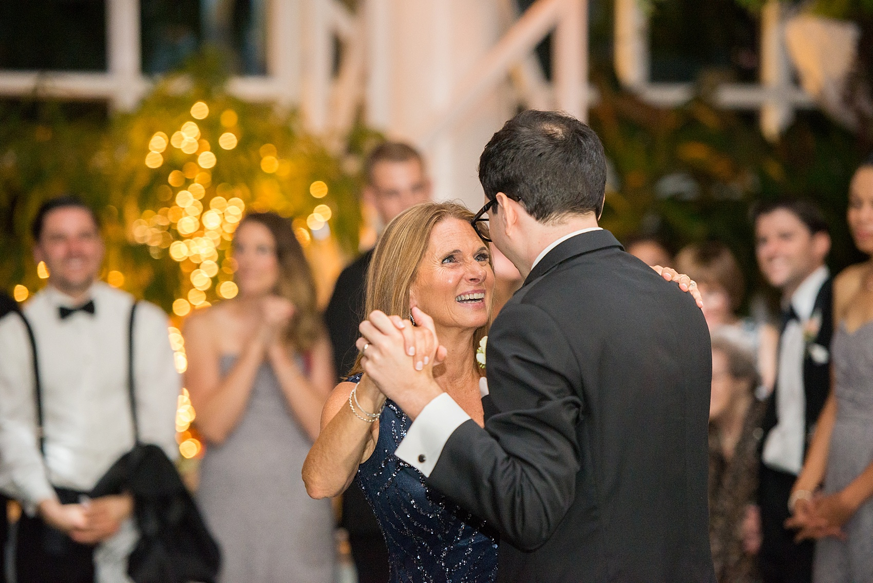 Mother-son dance at a wedding reception at the Conservatory at The Madison Hotel, New Jersey. Photos by Mikkel Paige Photography.