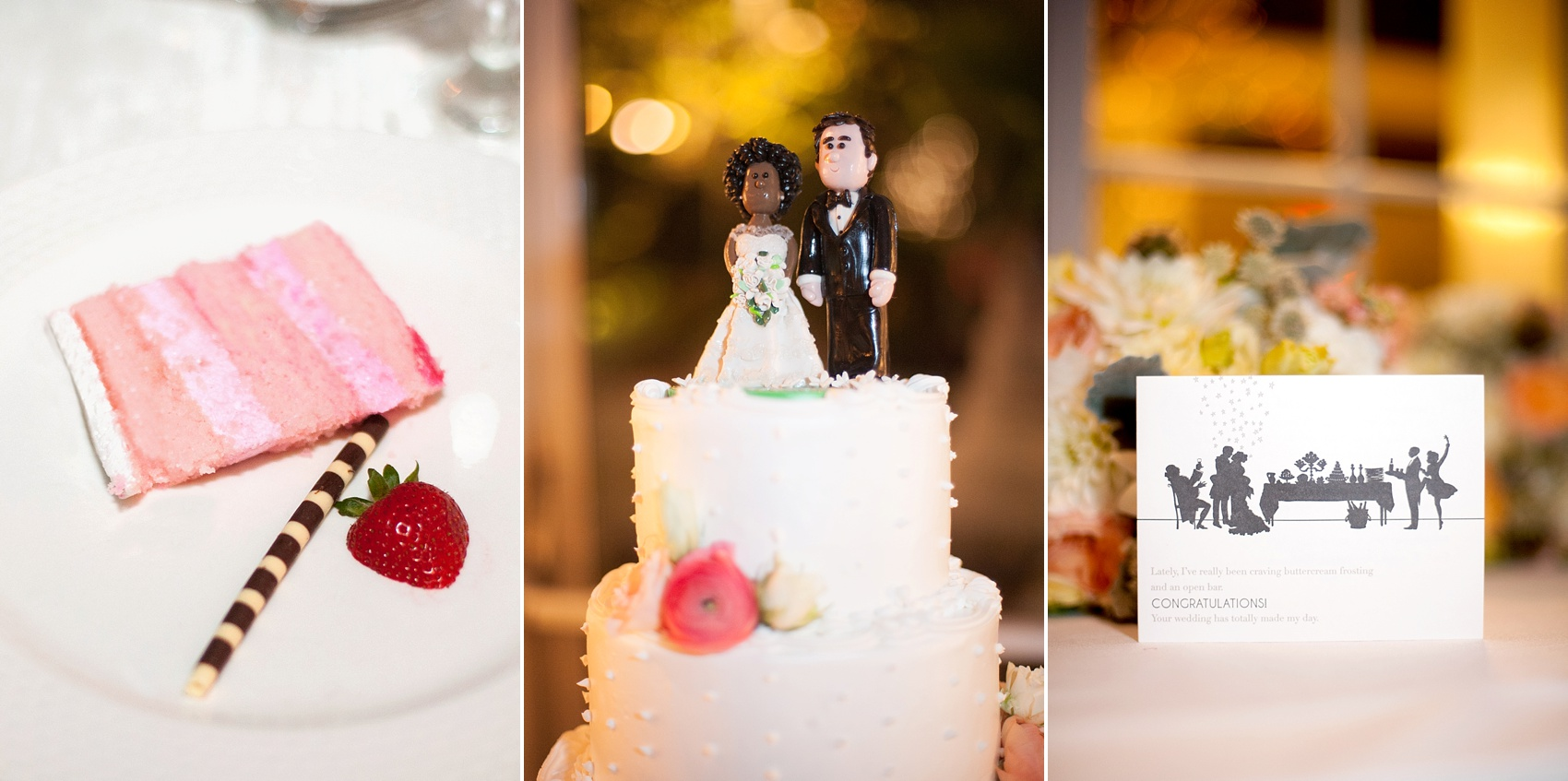 Swiss dot buttercream cake. Wedding reception at the Conservatory at The Madison Hotel, New Jersey. Photos by Mikkel Paige Photography.