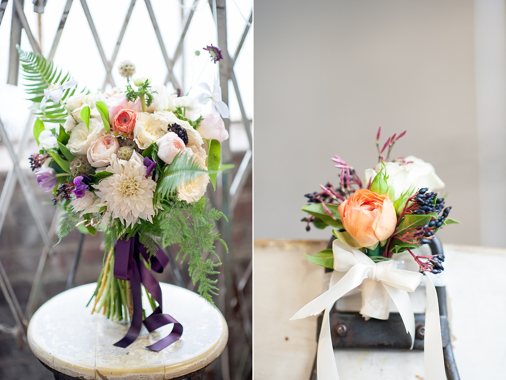 Bright summery wildflower bouquet and corsage by Sachi Rose Design florist. Photos by Mikkel Paige Photography.
