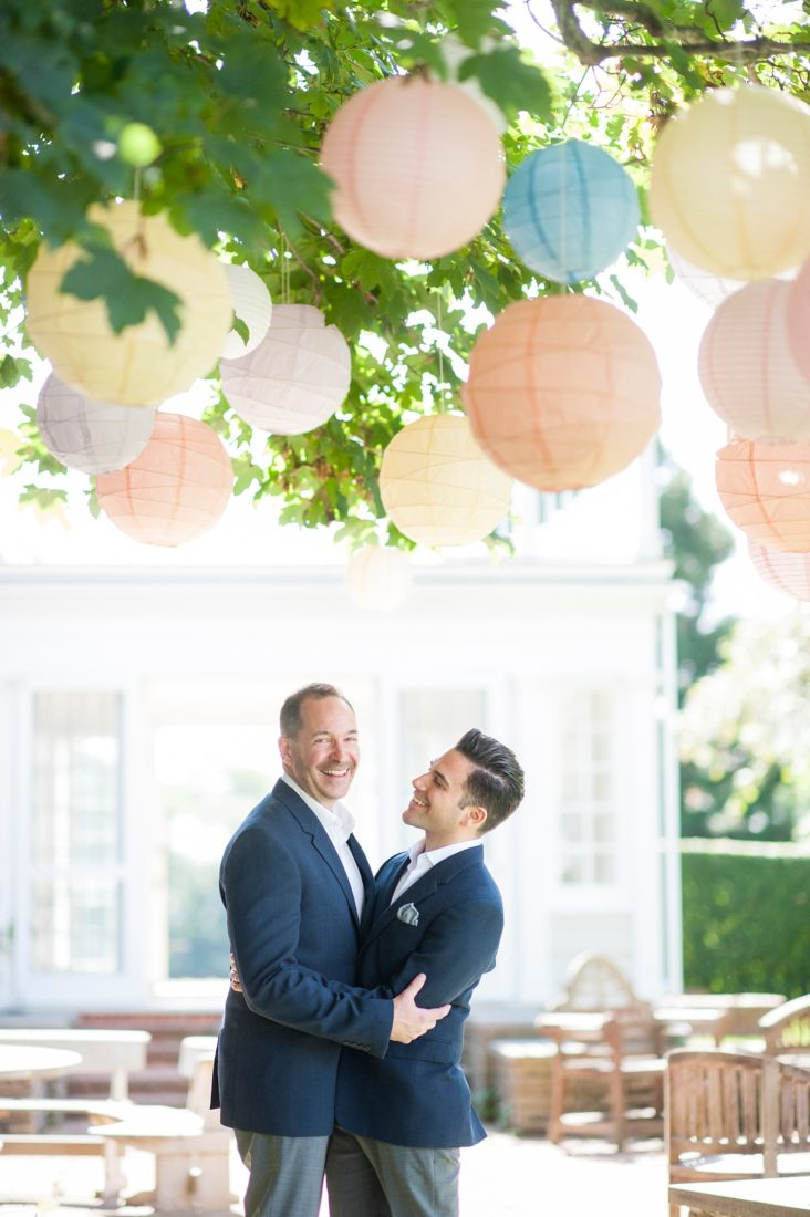 Hamptons, New York same sex wedding photos at a private residence, by Mikkel Paige Photography.