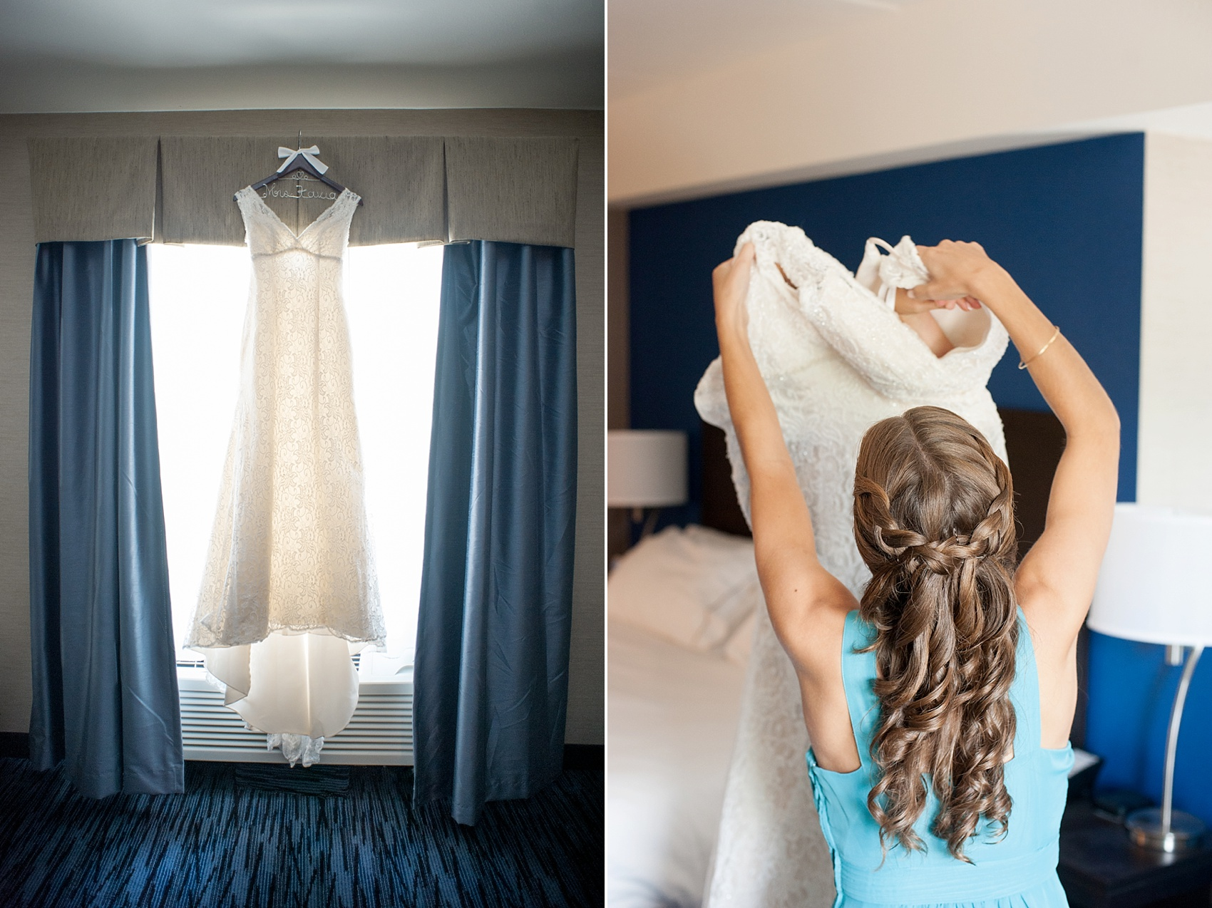 Lace wedding gown. Photos by Mikkel Paige Photography for a Hollow Brook Golf Club wedding.