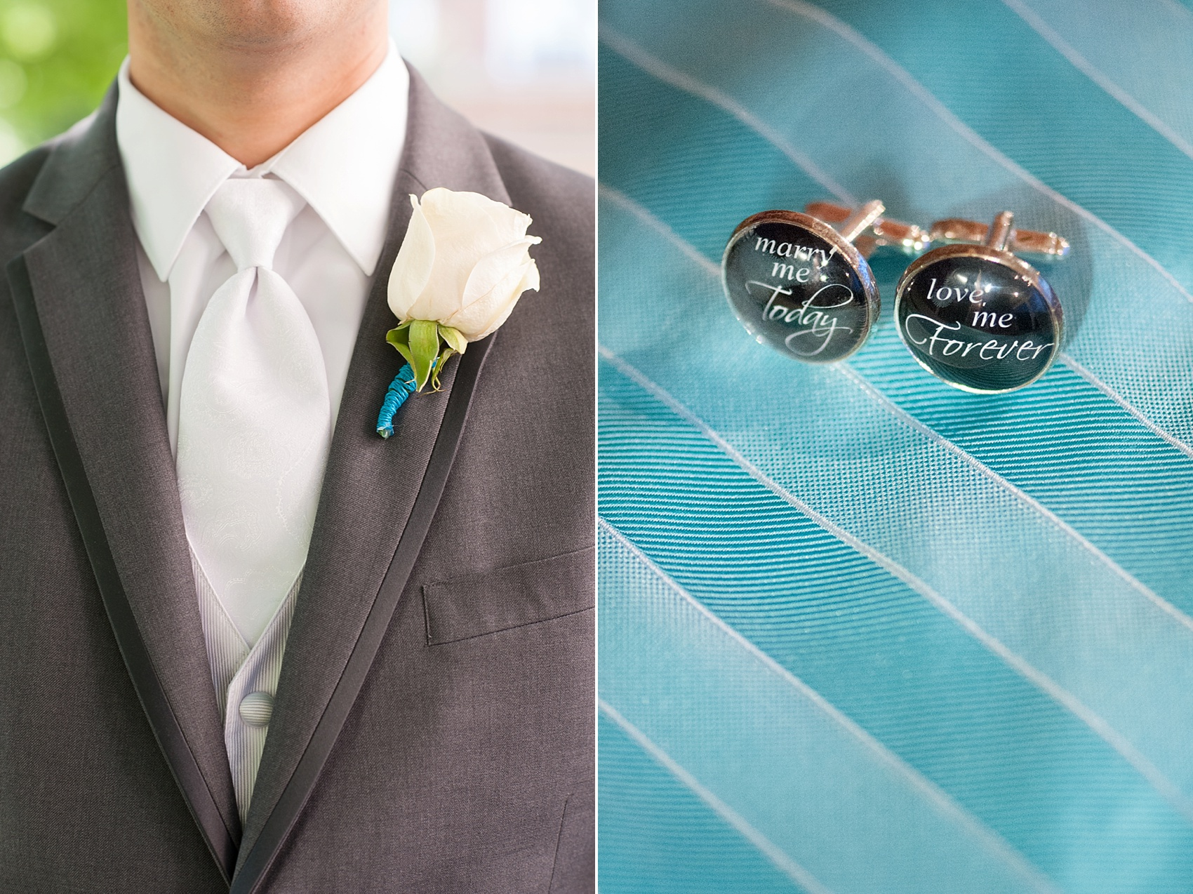 Custom cufflinks for the groom of a Hollow Brook Golf Club wedding in New York. Photos by Mikkel Paige Photography.