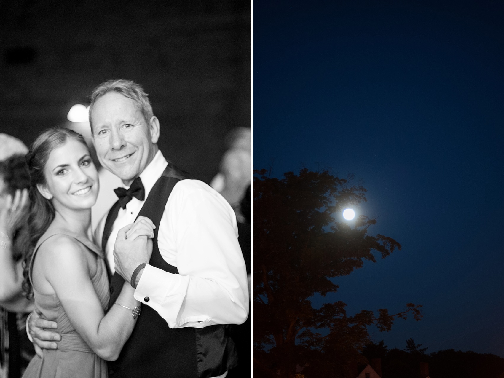 Super moon during a rustic Hollow Brook Golf Club summer wedding photos in Cortlandt Manor, New York, by Mikkel Paige Photography.
