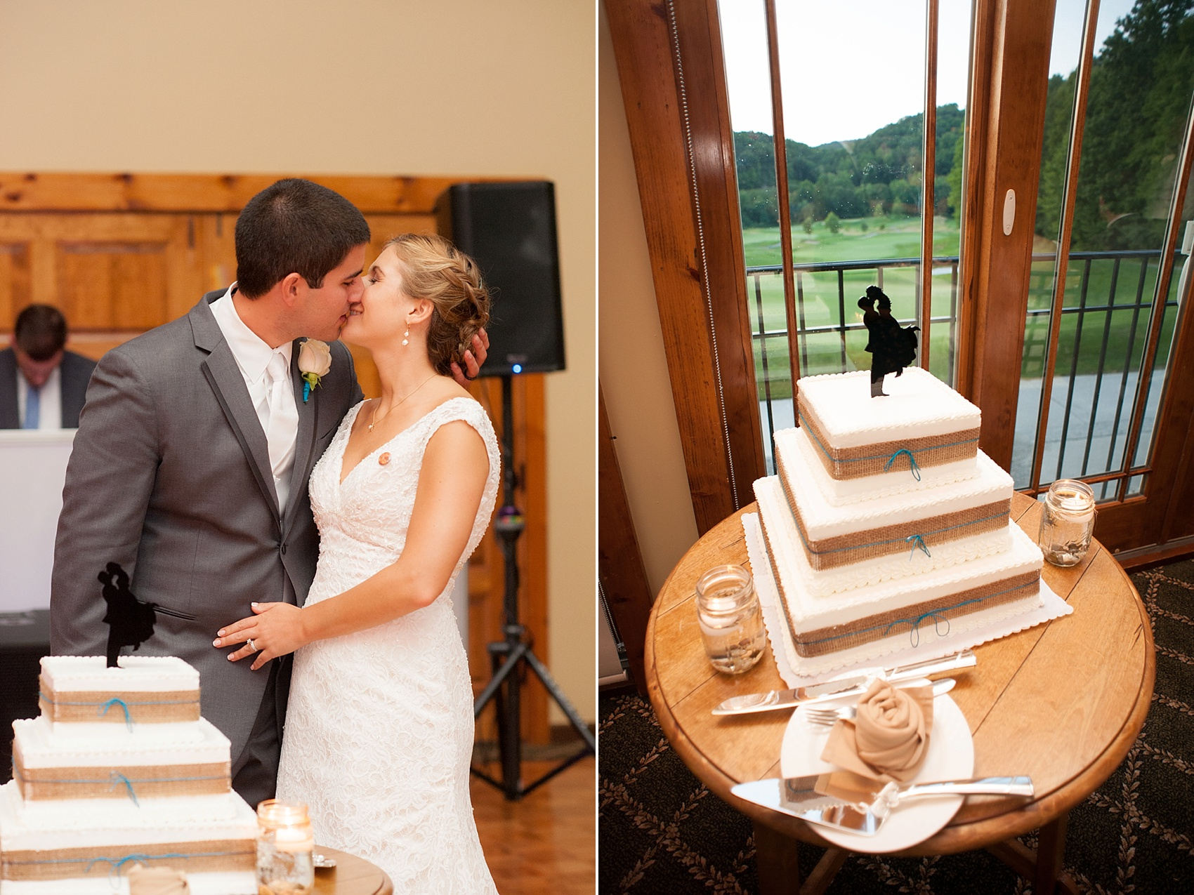 Silhouette cake topper for a rustic Hollow Brook Golf Club summer wedding photos in Cortlandt Manor, New York, by Mikkel Paige Photography.