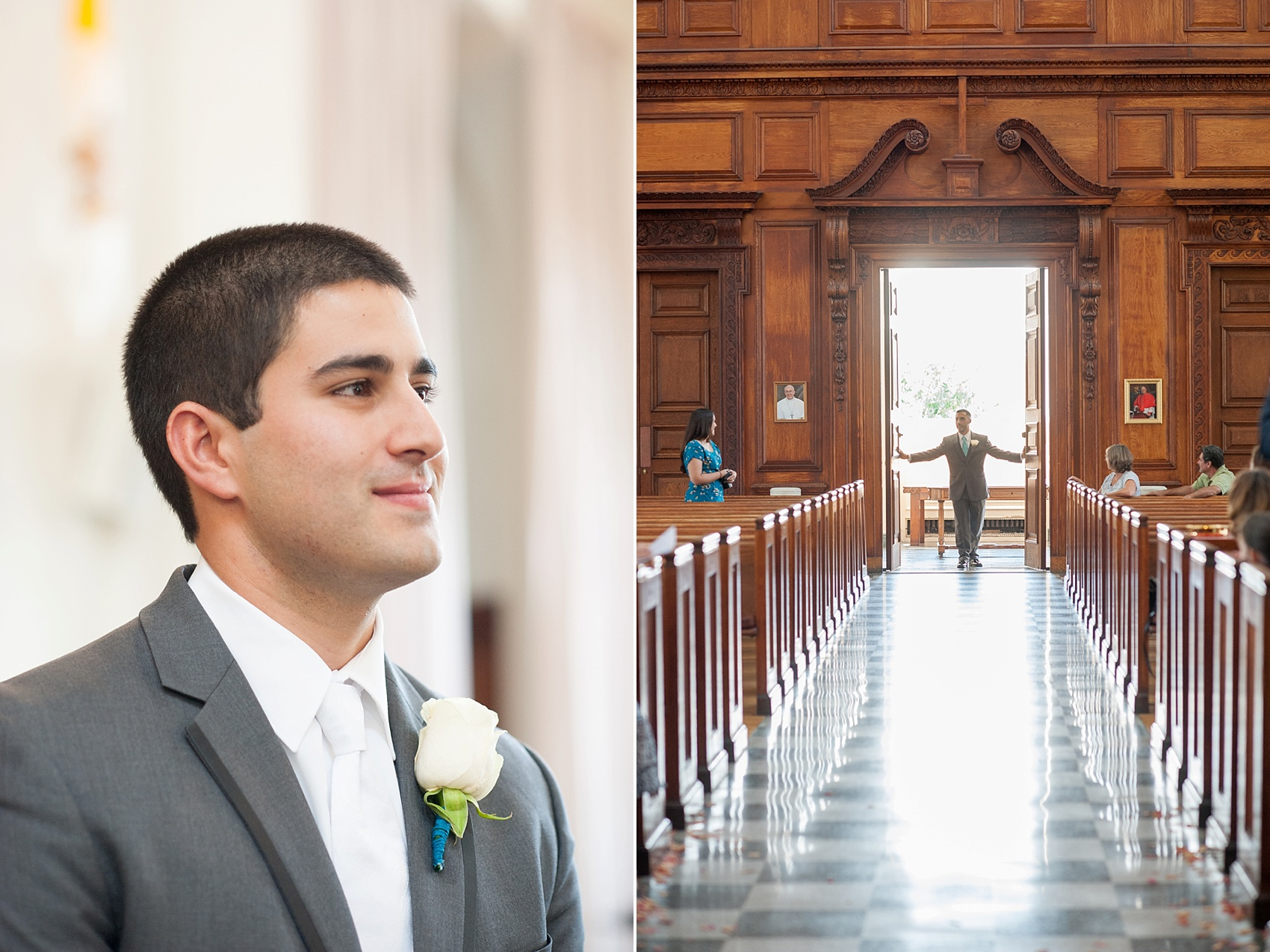 Manhattan College ceremony wedding photos in New York, by Mikkel Paige Photography.