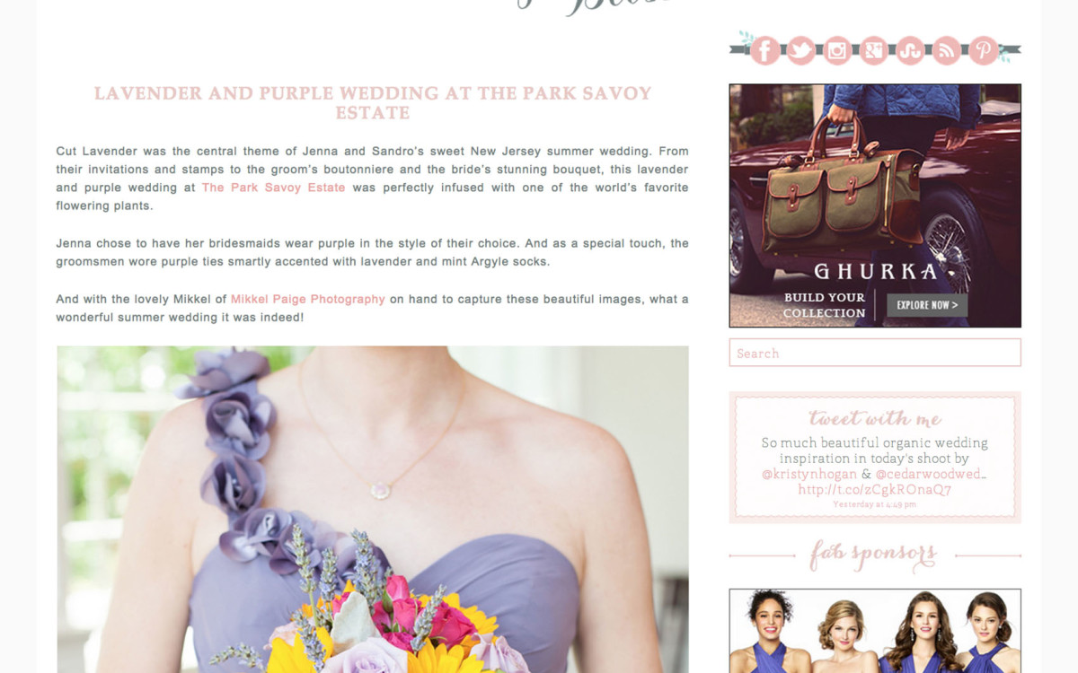 Lavender Purple Wedding at The Park Savoy Estate • Featured: Fab You Bliss