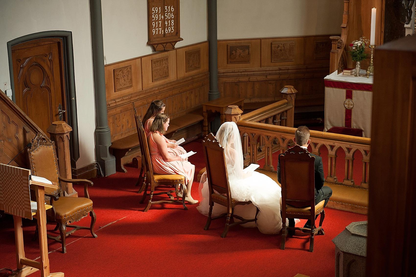 Wedding ceremony photos in Bergen, Norway. Destination photographer Mikkel Paige Photography.