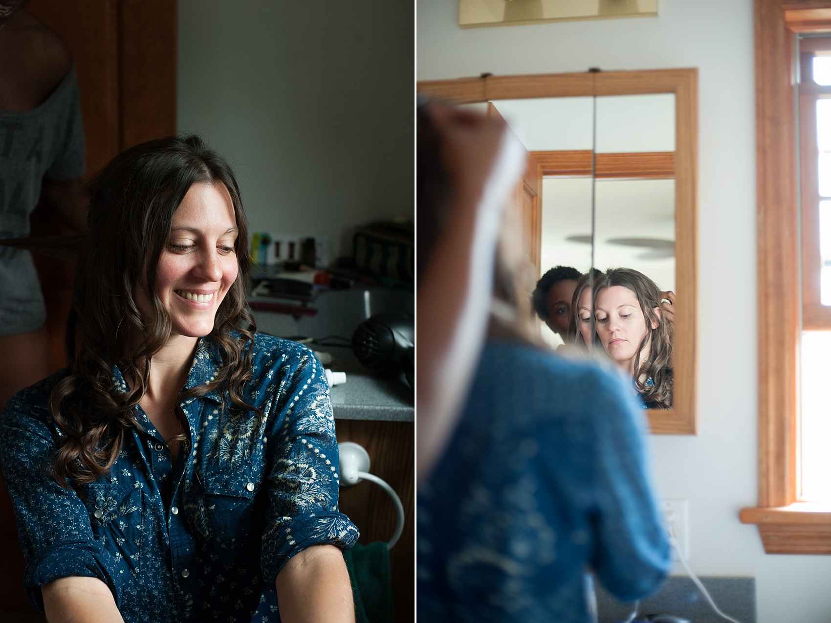 The bride gets ready for her Berkshires wedding at Camp Wa Wa Segowea. Photos by Mikkel Paige Photography, destination wedding photographer.