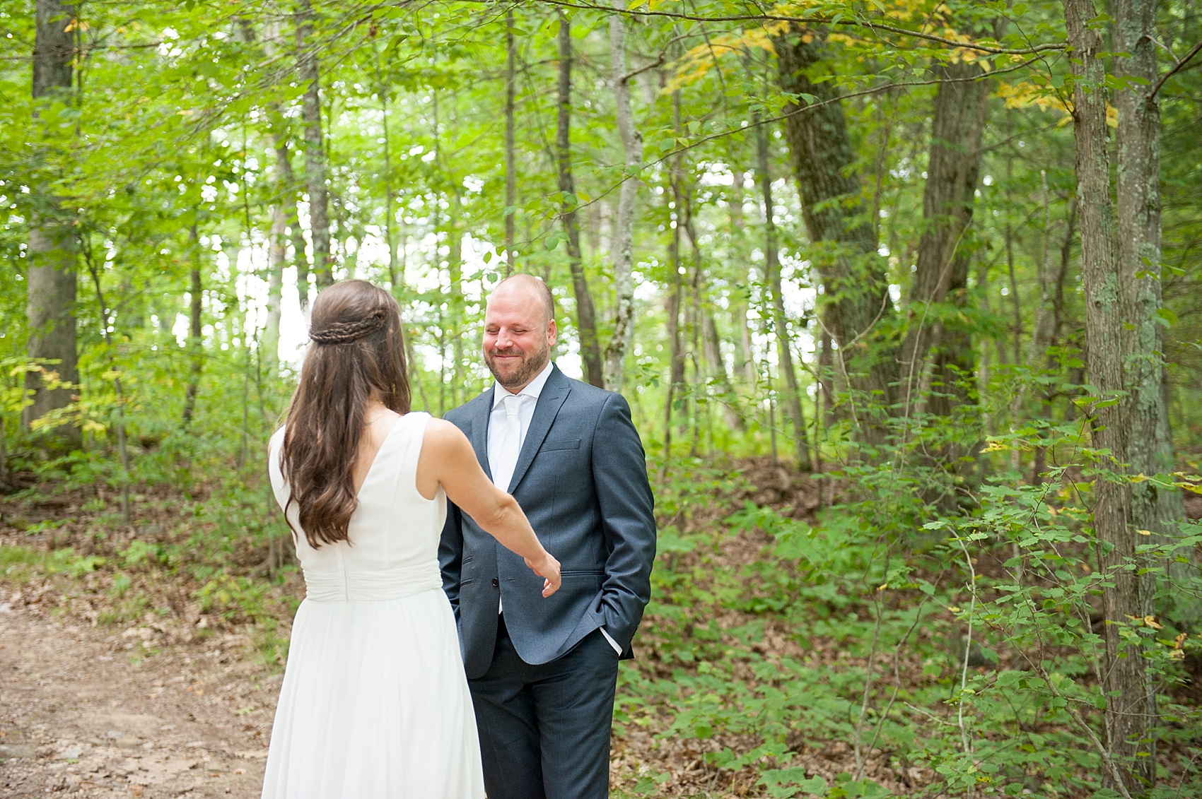 First look for rustic Massachusetts Berkshires wedding at Camp Wa Wa Segowea. Photos by Mikkel Paige Photography, destination wedding photographer.