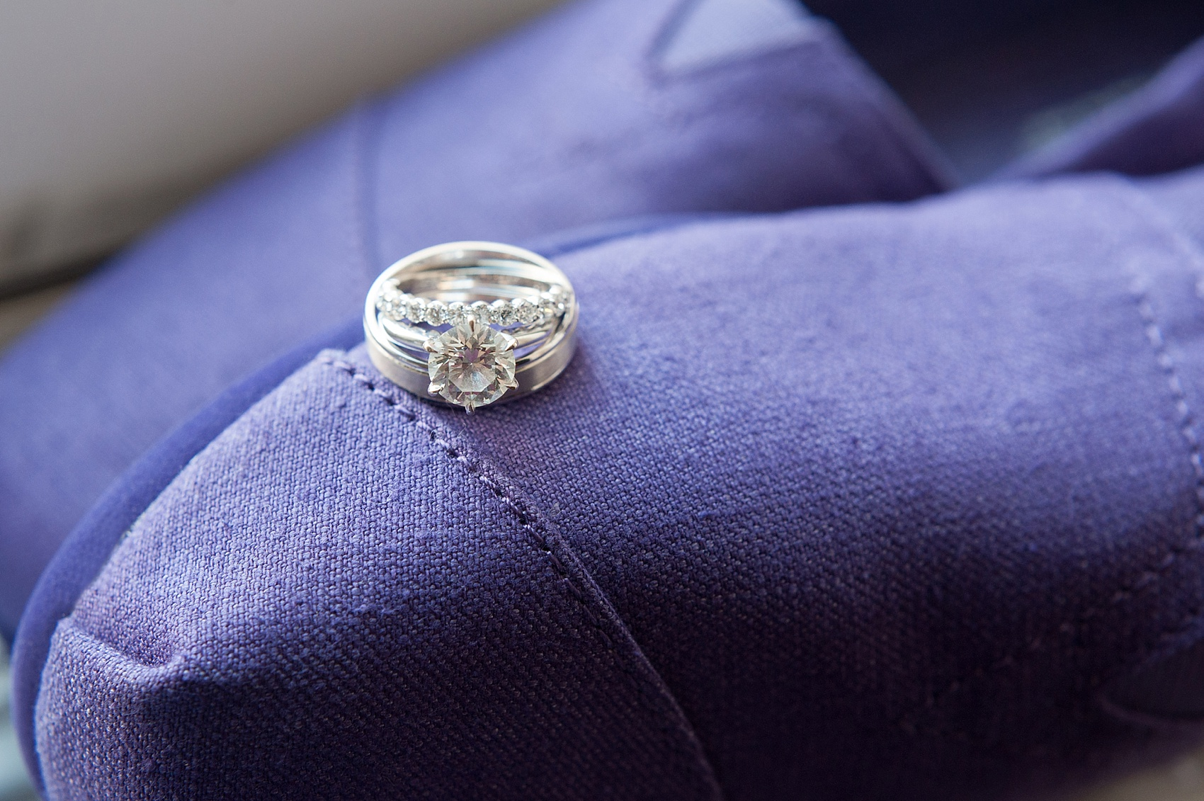 Ring photo for downtown Cincinnati, Ohio wedding at The Center. Photos by Mikkel Paige Photography.