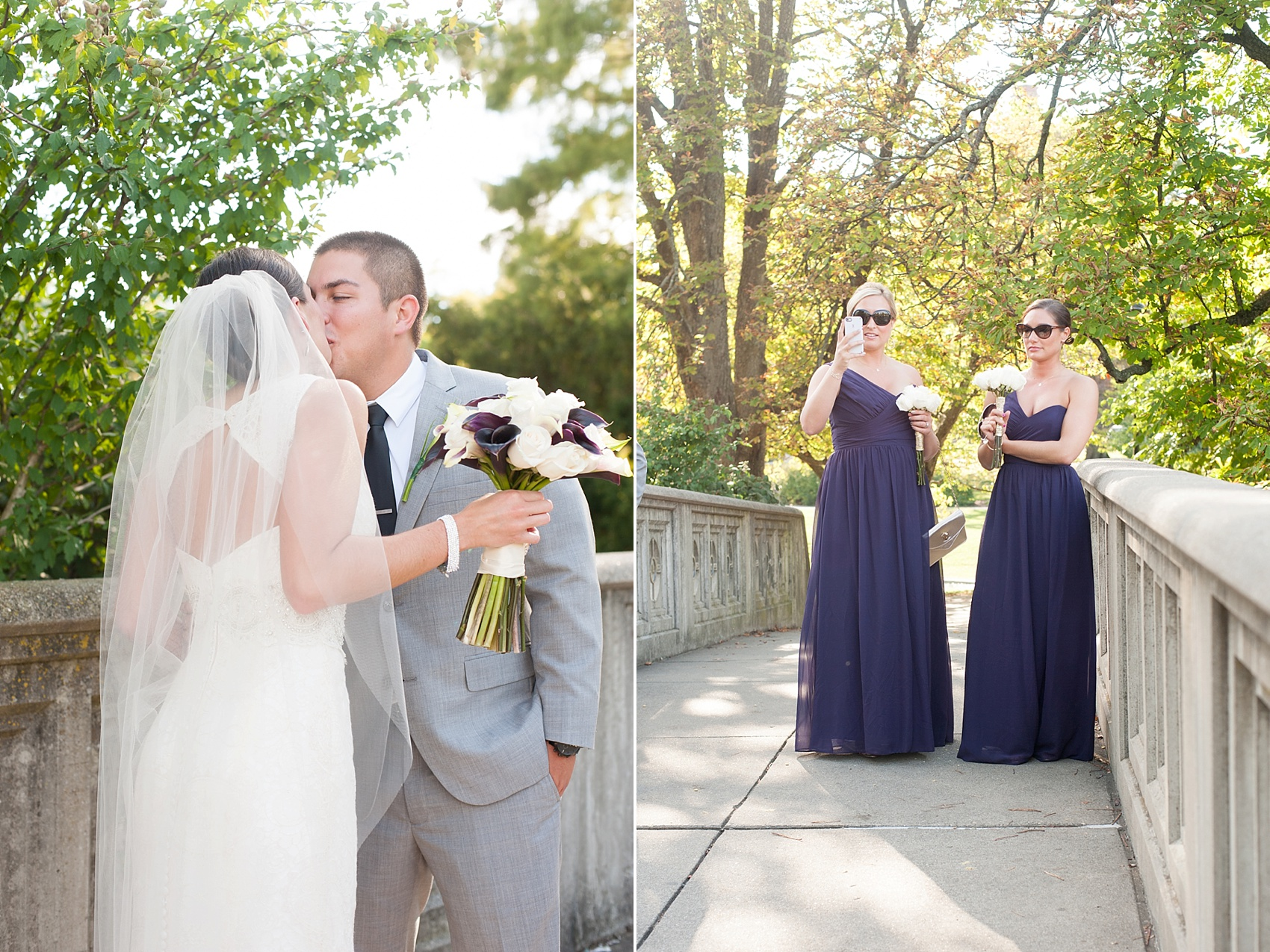 First look at Eden Park for downtown Cincinnati, Ohio wedding at The Center. Photos by Mikkel Paige Photography.