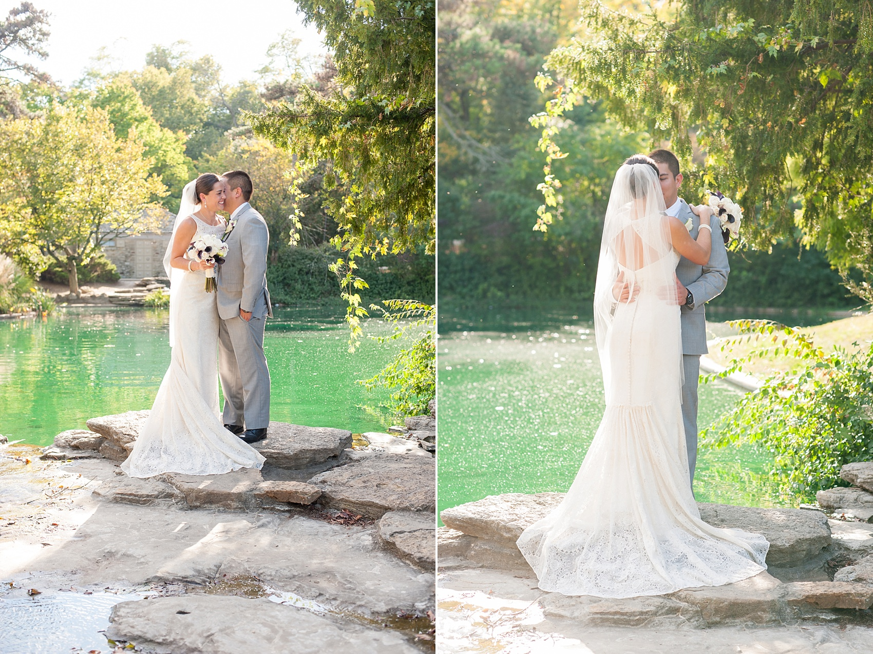 Portraits at Eden Park for downtown Cincinnati, Ohio wedding at The Center. Photos by Mikkel Paige Photography.