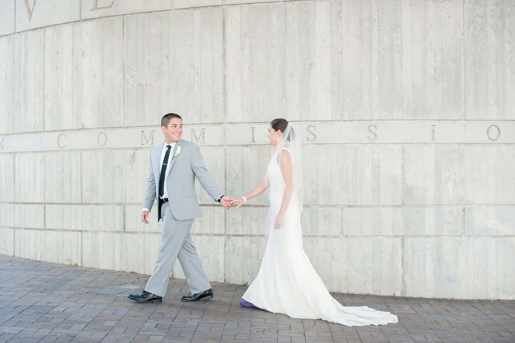 Portraits at Sawyer Point for downtown Cincinnati, Ohio wedding at The Center. Photos by Mikkel Paige Photography.
