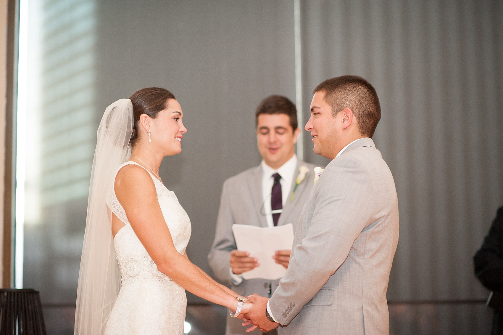 Wedding ceremony at The Center, downtown Cincinnati, Ohio. Photos by Mikkel Paige Photography.