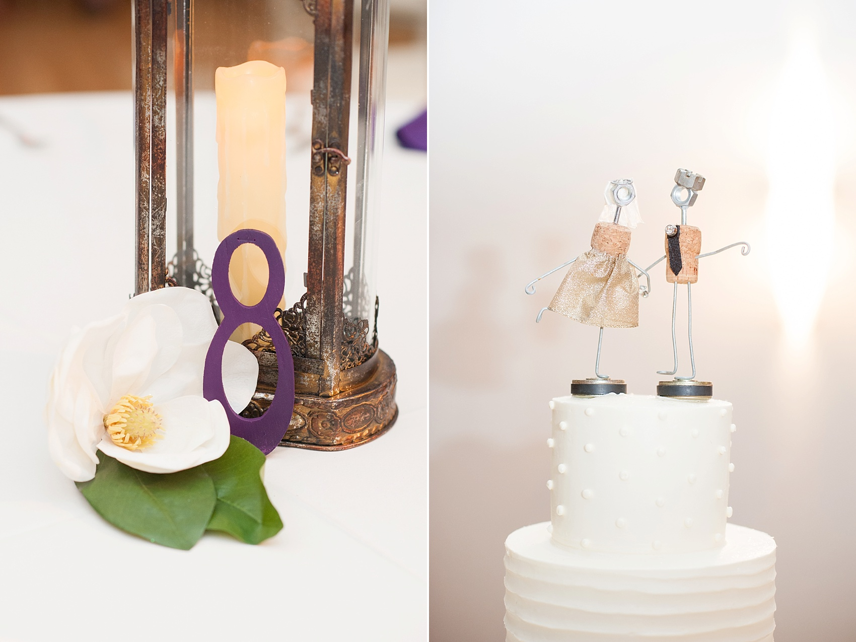 Table number and cake topper for a wedding at The Center, downtown Cincinnati, Ohio. Photos by Mikkel Paige Photography.