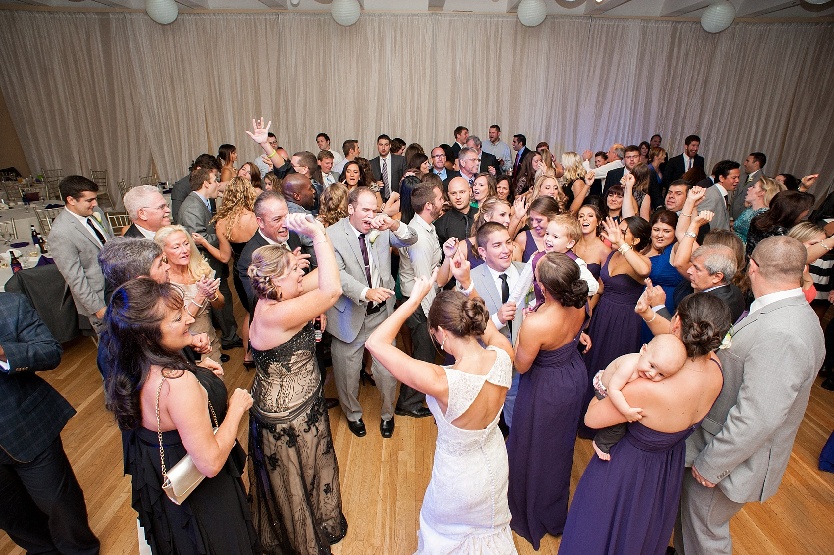 Wedding at The Center, downtown Cincinnati, Ohio. Photos by Mikkel Paige Photography.