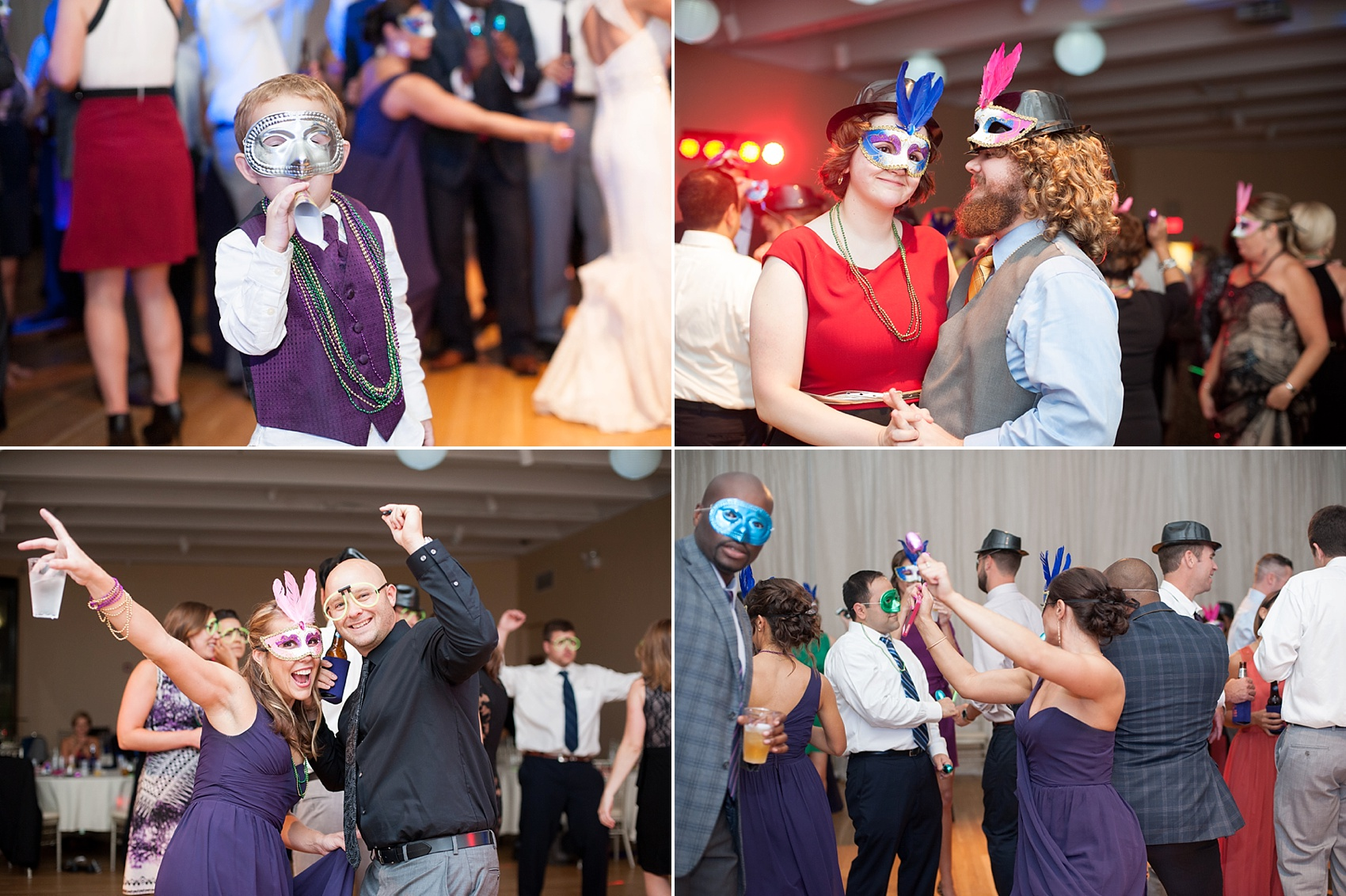 Columbian mask tradition for a wedding at The Center, downtown Cincinnati, Ohio. Photos by Mikkel Paige Photography.
