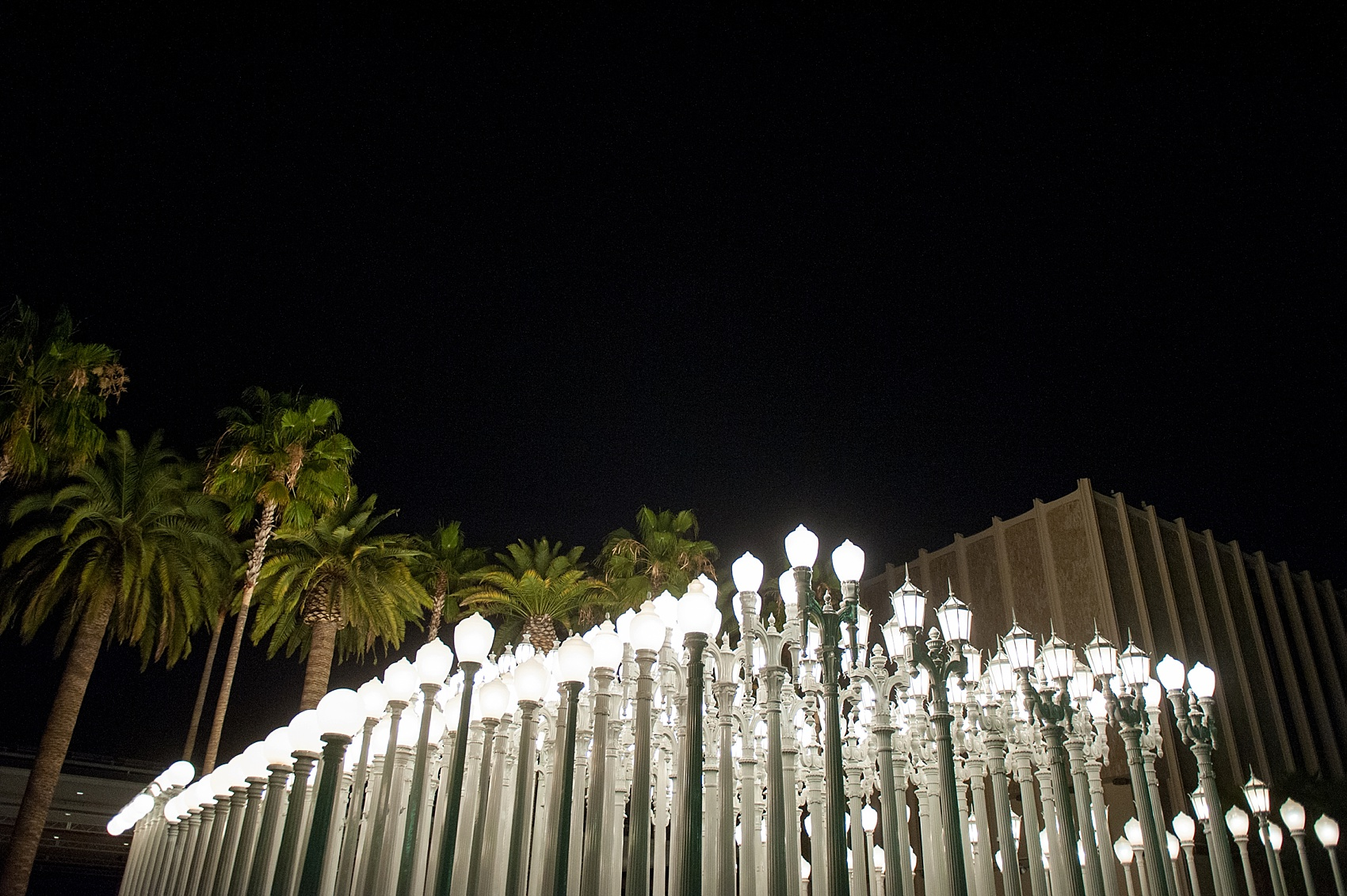 ... Engagement Photos At The LA Lamp Posts, Los Angeles County Of Art.  Photos By