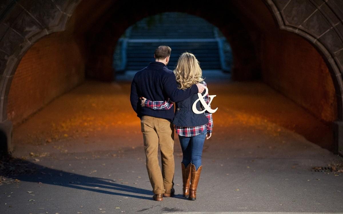 Central Park Engagement Photos • Autumn Leaves • Tina + Jon
