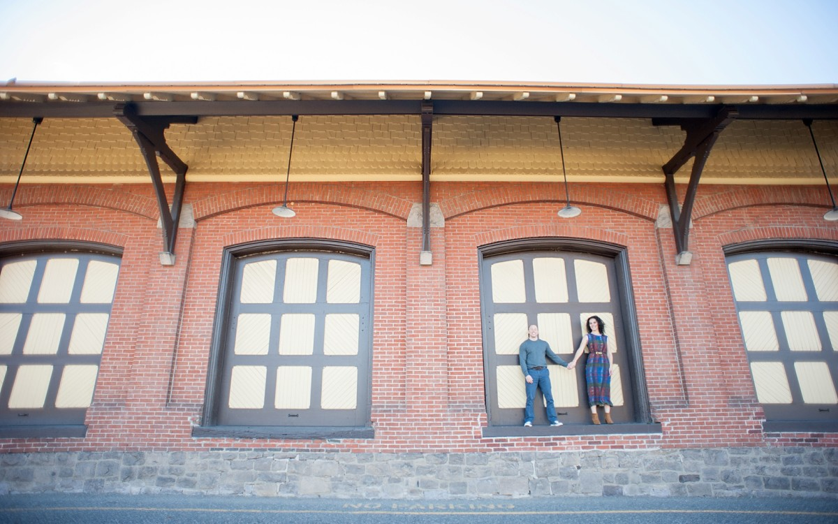 New Hope, PA Train Station Engagement Session Photos • Nicole + Mark