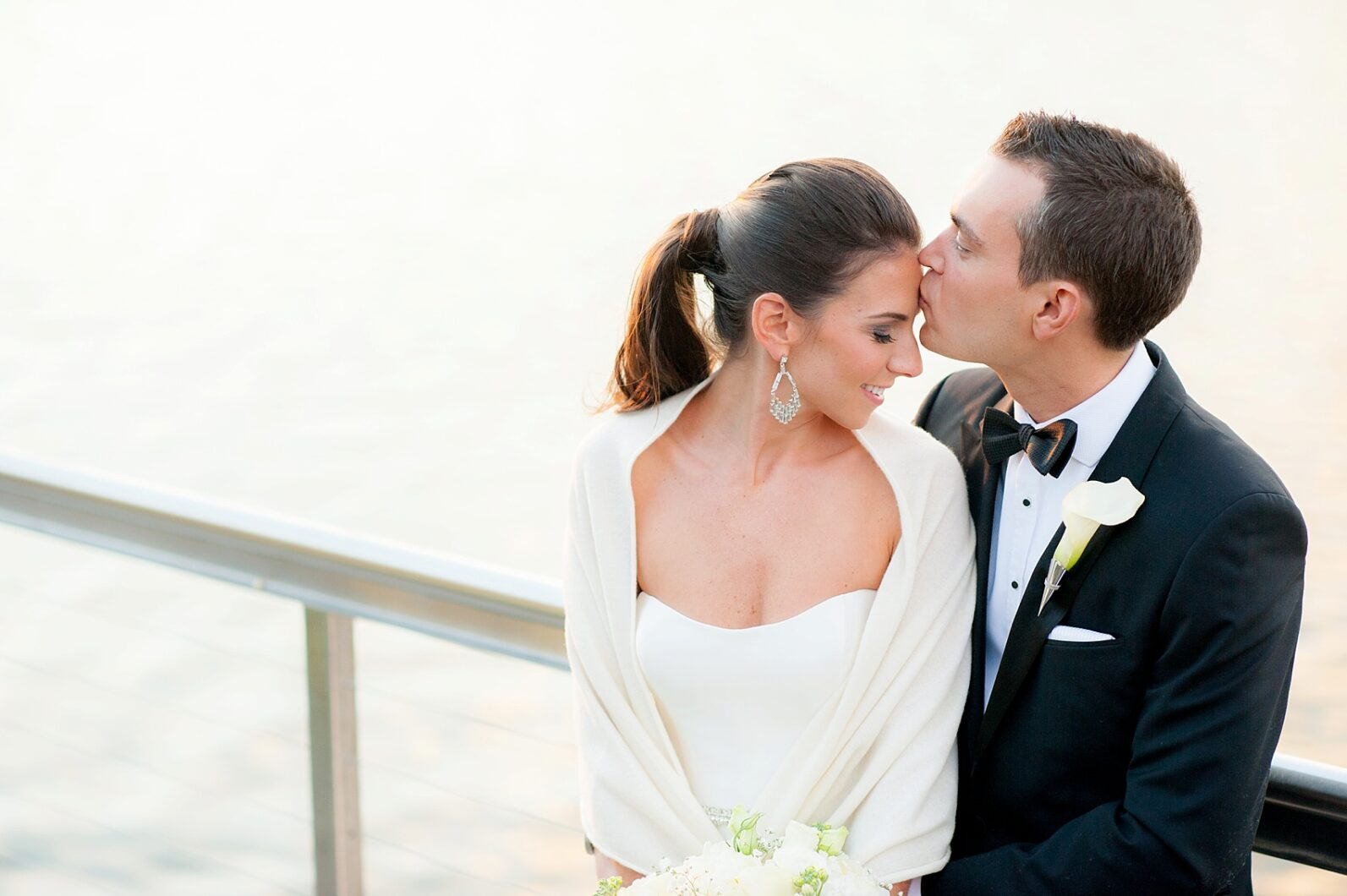 Harbor Club wedding on Long Island with Mikkel Paige Photography. Bride in Amsale for her New Year's Eve, waterfront wedding.