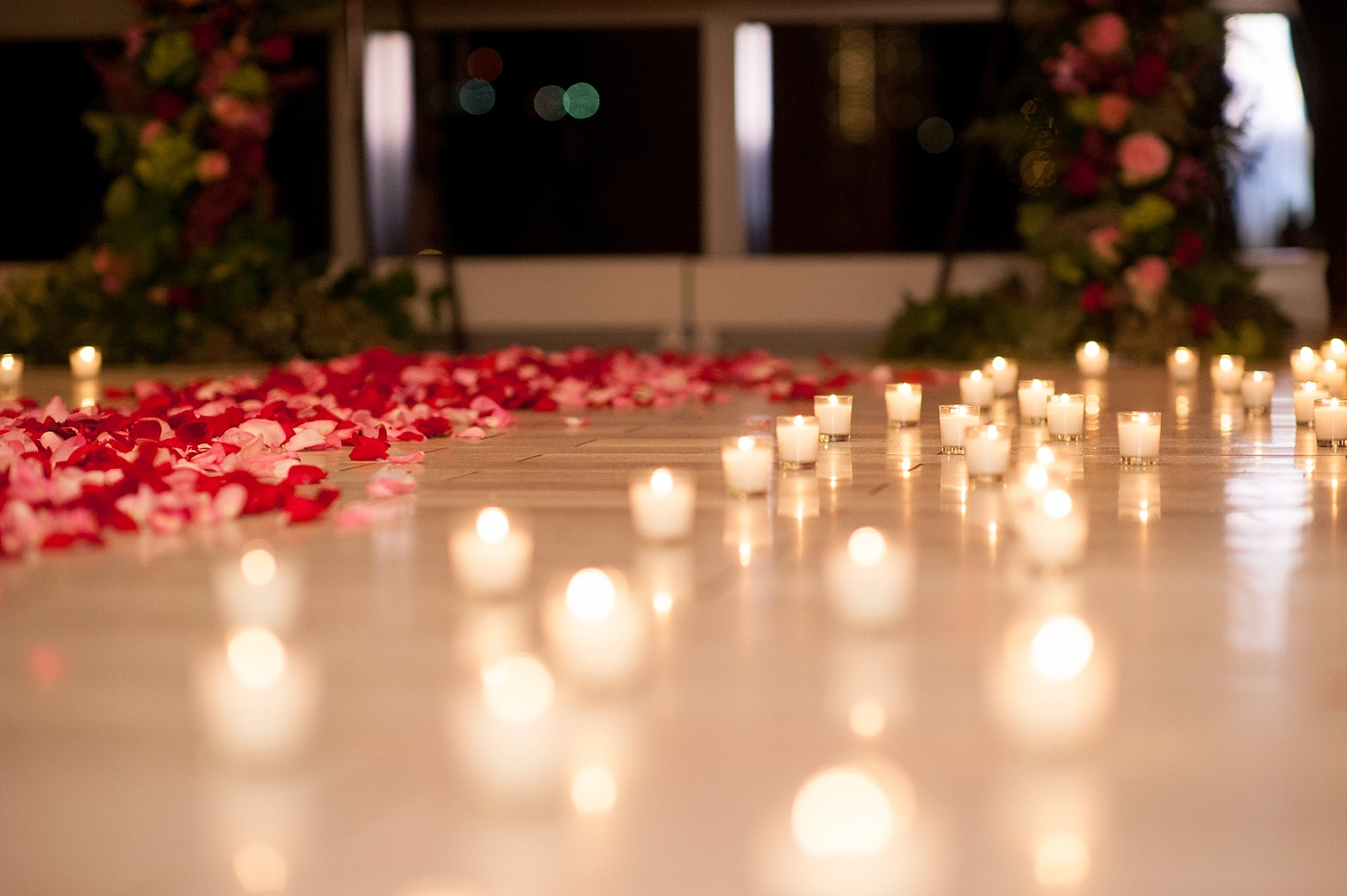 NYC Proposal Photos By Mikkel Paige Photography. Candlelight Rose Aisle At  Trump Soho Overlooking NYC ...