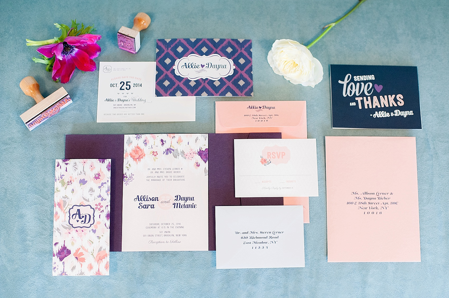 Wedding Invitations And Paper Suites By Raleigh Photographer Mikkel Paige
