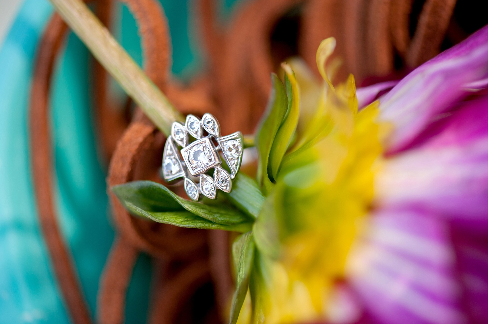 Raleigh wedding photographer's personal story of the art deco diamond ring she wears daily, which was her grand grandmother's.