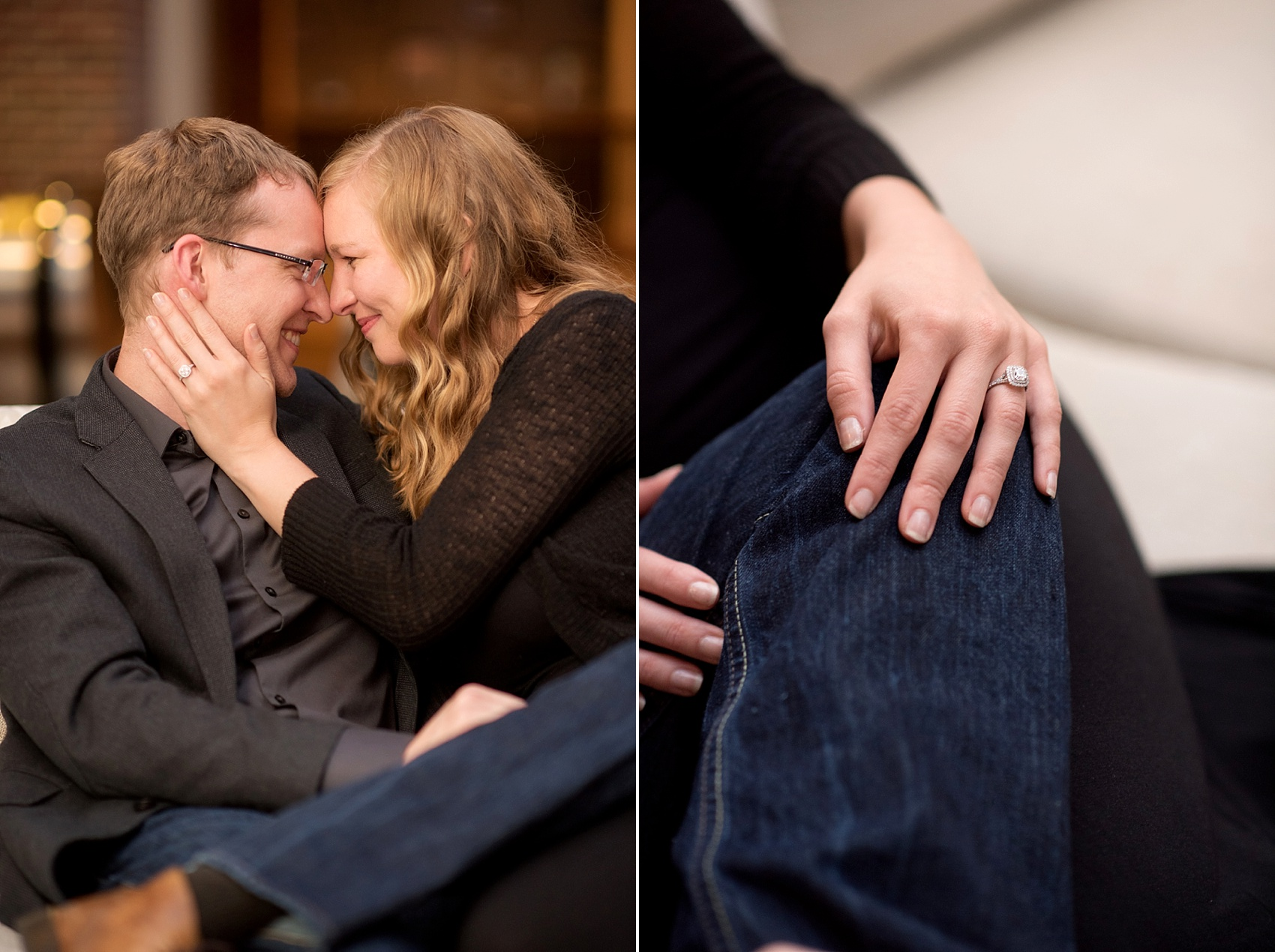 Raleigh wedding photographer, Mikkel Paige Photography, captures downtown #proposal at the Sheraton hotel.