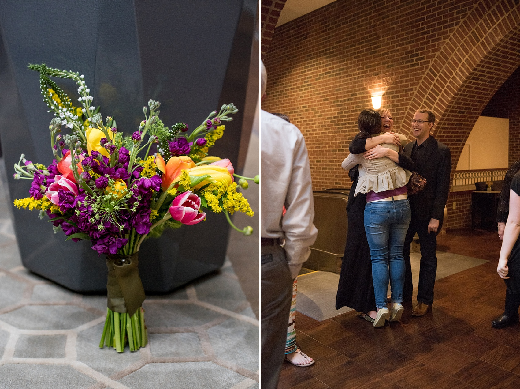 Raleigh wedding photographer, Mikkel Paige Photography, captures downtown #proposal. Flowers by Eclectic Sage.