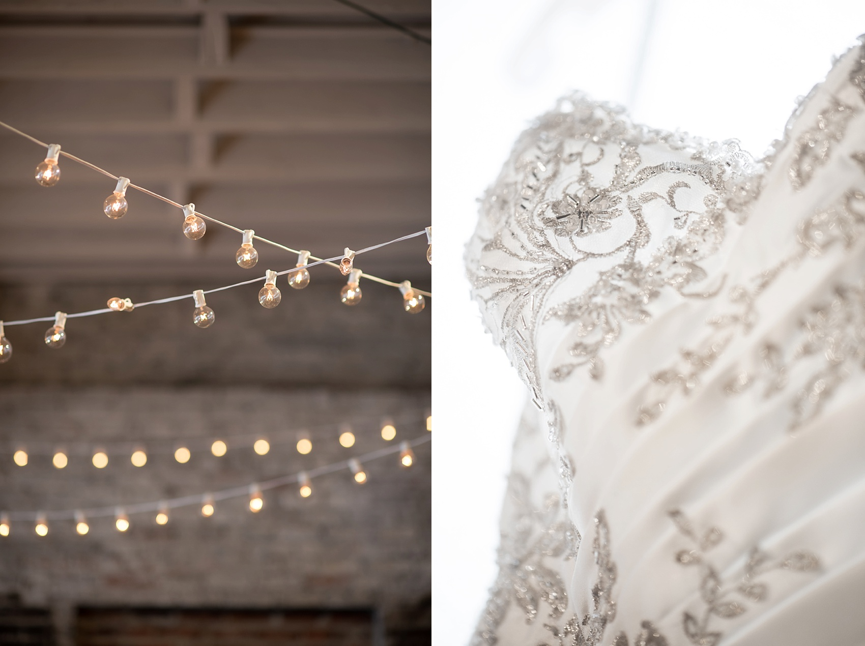 Raleigh wedding photographer Mikkel Paige Photography captures the wedding gown at The Stockroom.