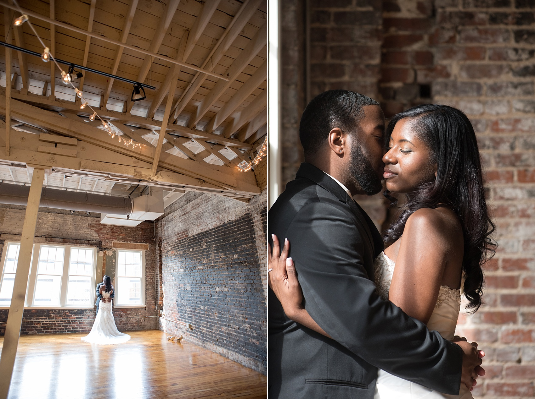 Raleigh wedding photographer Mikkel Paige Photography captures a bride and groom at The Stockroom.